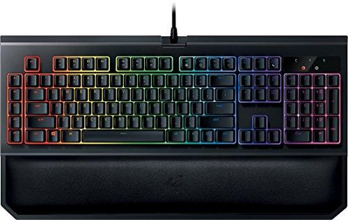 Razer BlackWidow Chroma V2 Esports Gaming Keyboard (Ergonomische Handballenauflage - 5 dedizierte Makrotasten - Razer Yellow Switches (Linear und Leise), DE Layout)