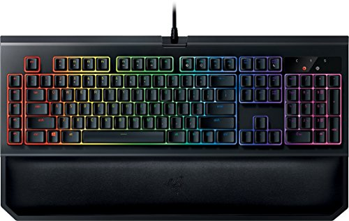 Razer BlackWidow Chroma V2 Esports Gaming Keyboard (Ergonomische Handballenauflage - 5 dedizierte Makrotasten - Razer Yellow Switches (Linear und Leise), DE Layout)