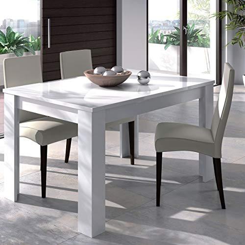 Tavolo allungabile salvaspazio 6/8 posti estensibile soggiorno cucina BIANCO 50 X 140 X 78 cm - 4586BO