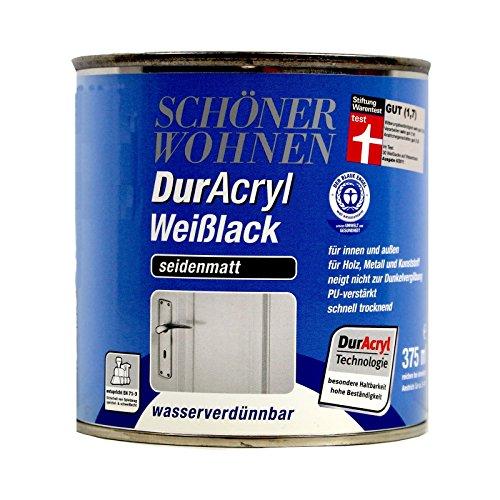 0,125L Schöner Wohnen Duracryl Weißlack sm Weisslack Lack weiss
