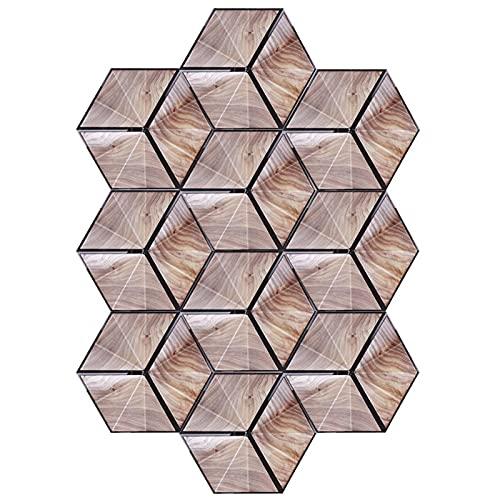 Adhesivo decorativo, adhesivo para azulejos Splashback, resistente al agua y antiincrustante, 10 piezas, pegatinas hexagonales para decoración del hogar DIY
