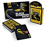 Magic Makers Bicycle Black Scorpion Deck with Extra Gaff Cards for Perfoming Magic Card Tricks