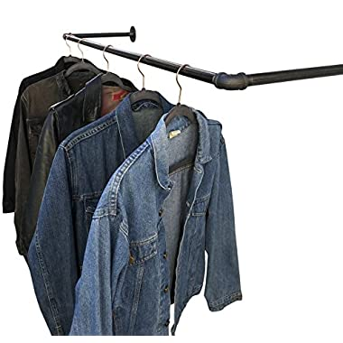 DIY CARTEL Industrial Pipe Wall/Ceiling Mount Clothing & Garment Rack - Hardware ONLY - Perfect for Retail Display, Organizing, Laundry - 30inch
