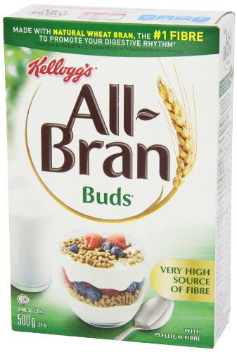 Kellogg's All Bran Buds Cereal 500g/17.6oz, (Imported from Canada)