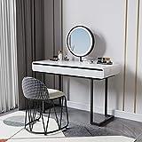 DGDHSIKG Tocador dormitorio casa tocador mesa de almacenamiento mesita de noche lujo maquillaje silla tocador muebles A1 120cm set