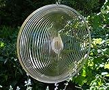 Manufaktur-Lichtbogen Edelstahl Windspiel Kreis fein 19 cm Gartendeko Windspiele Metall