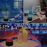 XOOYYY Pallavolo 3D Luce Notturna 16 Conversione Colore Decorativo Tavolo Da Pranzo Luce Soggiorno Luce Led