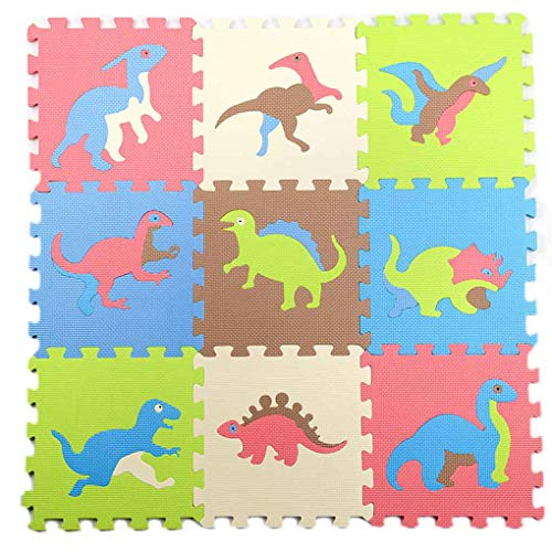 Floridivy 9pcs Dinosaur Style thicking EVA Foam Mat Children's Puzzle Mat Baby Spelen Interlocking Foam Floor Pad Sets