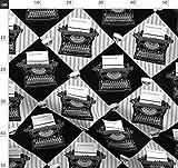 Schreibmaschinen, Schwarz Und Weiß, Tippend, Bücher,