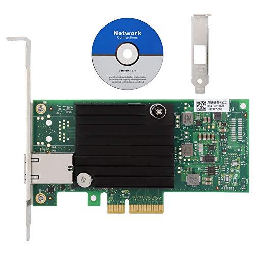 Sxhlseller Tarjeta Ethernet de 10 Gigabit, para Chip de Control Principal Intel X550-T1 Tarjeta Adaptadora de Red de Servidor Ethernet 10Gigabit 10G PCI-E