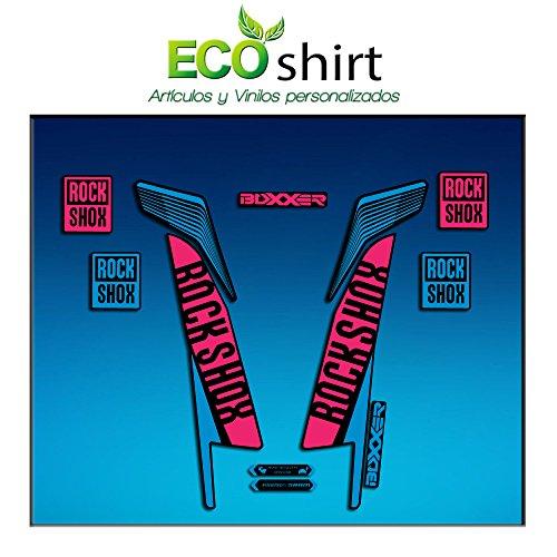 Ecoshirt LI-HD99-I2NS Stickers Fork Rock Shox Boxxer World Cup 2016 Am77 Aufkleber Decals Autocollants Fourche Bleu Rose