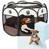enclos pliable parc pour chiens chiot chat chaton + tapis éducateur...
