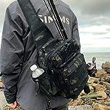 Rodeel Sling Backpack - Camouflage Medium - Waterproof Fishing Tackle Storage Bag for Fly Fishing, Carp fishing