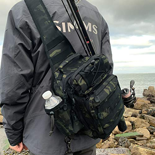 Rodeel Sling Backpack - Camouflage Medium - Waterproof Fishing Tackle...