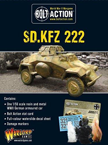Bolt Action Sd.kfz 222 WWII German Light Armoured Car