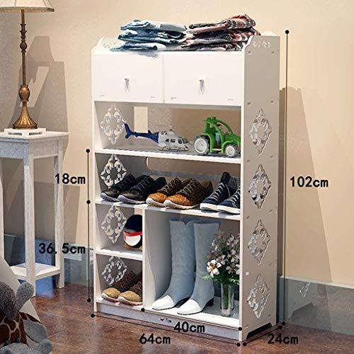 GUOCAO Estilo europeo zapatos de montaje gabinete zapatero estante múltiples capas simple y moderno pequeño almacenamiento puerta zapatero estante hogar