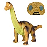 Best Choice Products 17.5-Inch RC Brachiosaurus Toy w/ Light Up Eyes and Sounds