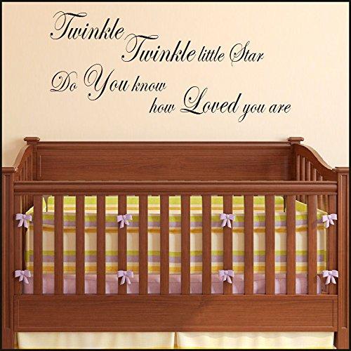 Groot verpleeghuis baby ryme twinkel kleine ster hield van u muur steiger overplaatsing