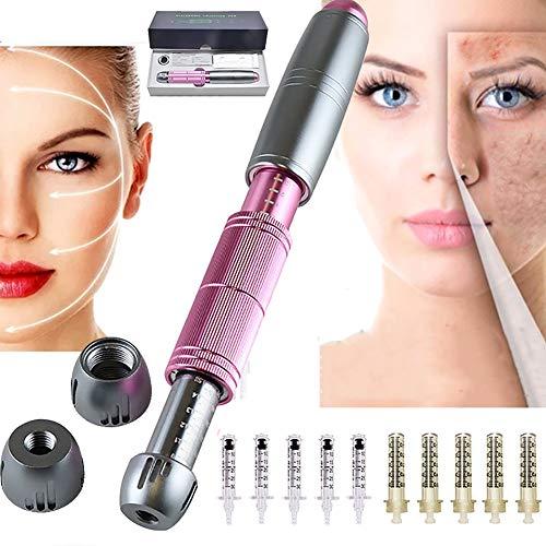JSBVM Hyaluron Pen, 0.3ml/0.5ml Hyaluronsäure Stift Set mit 10 Ampullen Kopf,Haut Verjüngung Zerstäuber Stift Schönheit Werkzeuge für Anti-Falten