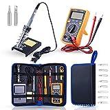 YHSGD El Juego de Plancha eléctrica Muestra la combinación de multímetro, Temperatura Ajustable, Plancha eléctrica