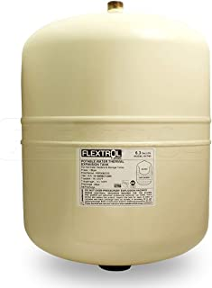 Flextrol FTT18 Thermal Expansion Tanks-for Hot Water Heaters, Carbon Shell, Stainless Steel 3/4 Inch MIP Connection, Butyl Diaphragm, 150 PSI, 210 Degrees Fahrenheit, Almond Color, 6.3 Gallons
