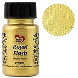 Idee con cuore colori acrilici metallizzati Royal Flash, colori metallizzati brillanti, 50 ml oro giallo