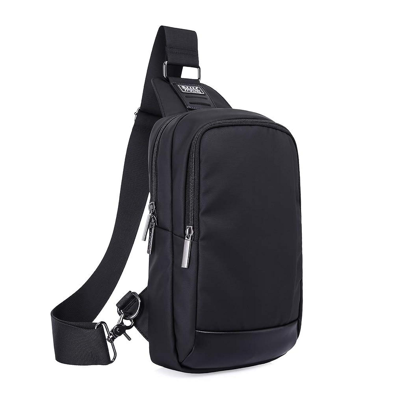 ボディバッグ ワンショルダーバッグ メンズ 斜めがけバッグ 防水 iPad収納可能 アウトドア スポーツ ショッピング 釣り、登山、通勤、通学 ブラック