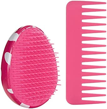 Scunci Printed Detangle Brush with Matching Comb - Hearts - 2 ct