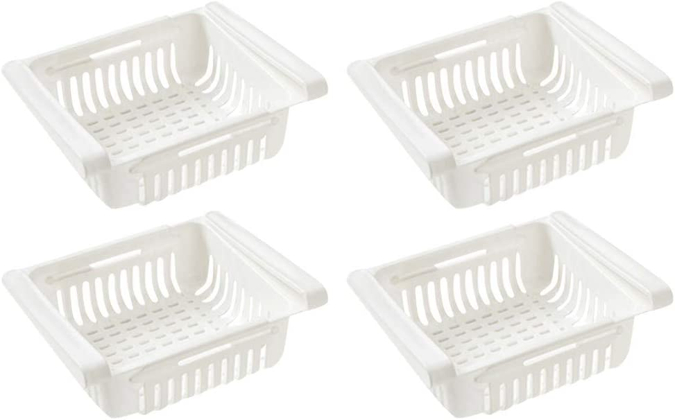 k/ühlschrank Schubladen aufbewahrungsboxen k/ühlschrank,Partition Layer Organizer Ausziehbare K/ühlschrank Schublade Organizer Aufbewahrungsbox Beige,2pcs Einstellbare Lagerregal K/ühlschrank