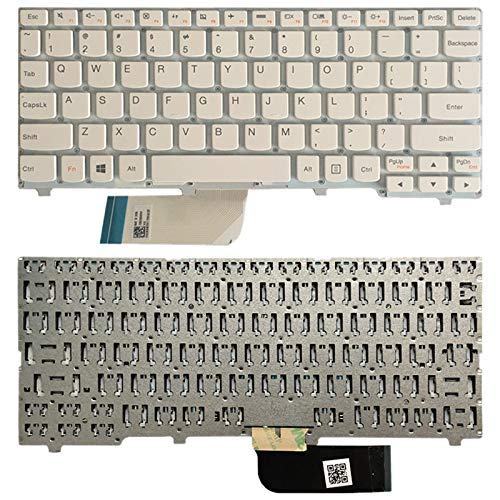 Computer & Accessory US Version Keyboard for Lenovo ideapad 100S 100S-11IBY(Black) Laptop Accessory (Color : White)