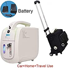 COXTOD Oxygen Concentrator, 1-5L/min Adjustable Portable Oxygen Machine for Home Battery Use, AC 110V Humidifiers - Green