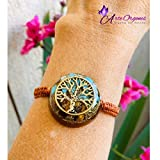 Orgonite Tree of Life bracelet, adjustable, with tiger's eye, turquoise, EMF protection, energy, well-being, balance, holistic therapy, reiki, yoga, meditation, astrology, Arte Orgones