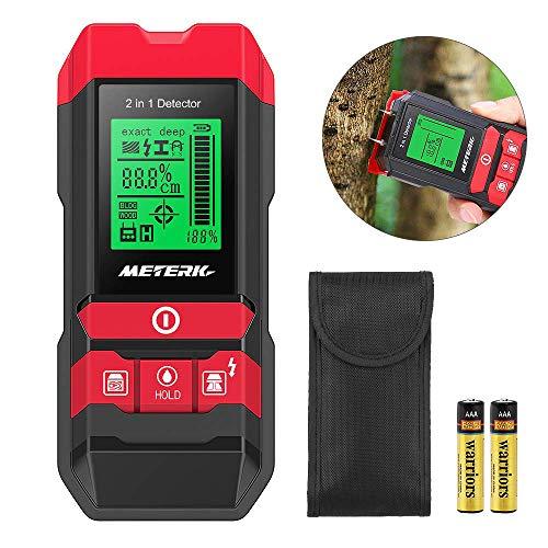 Detector de construcción digital Detector Meterk 2 en 1 Pernos de materiales eléctricos Detección de cables de madera / metal / CA con LED / alarma de sonido