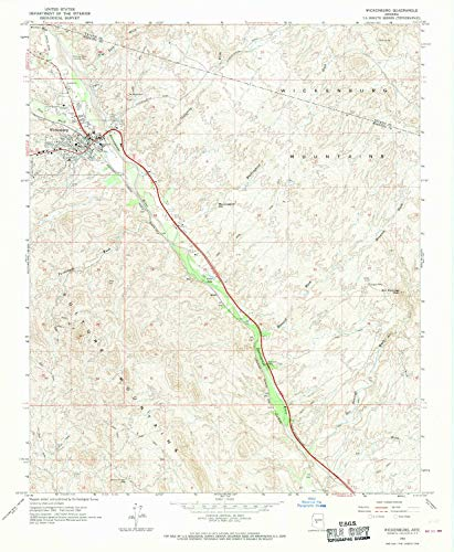YellowMaps Wickenburg AZ topo map, 1:24000 Scale, 7.5 X 7.5 Minute, Historical, 1964, Updated 1970, 26.8 x 22 in - Paper