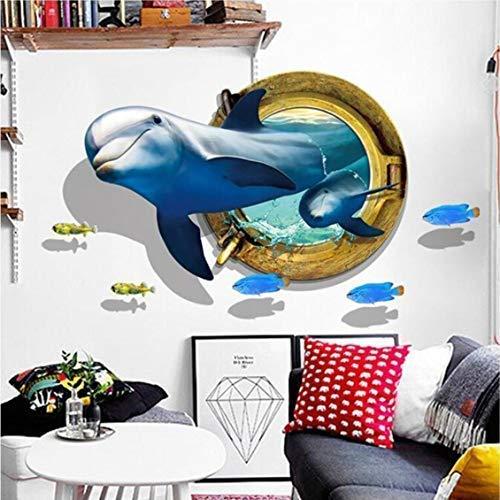 dyudyrujdtry Stevige 3D Art Muurstickers Muren - - Zelfklevende Verwijderbare DIY Vinyl Decals Decorator voor Kinderen Slaapkamer Plafond, Woonkamer, Kwekerij, Bank Achtergrond, TV Wandachtergrond, Klas voor Home Decoratie