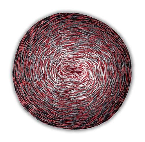 Wolly Hugs Bobbel Cotton Xtra 303 weiß grau rot schwarz