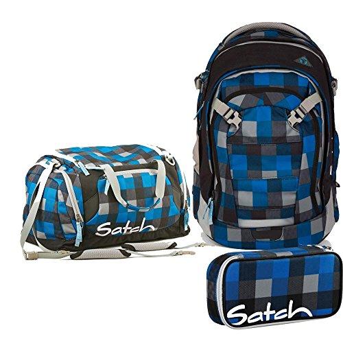 Ergobag Schulrucksack-Set 3tlg. Satch Match Airtwist
