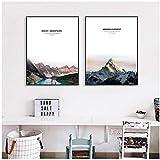 CHENSHU Nordic Style Rocky Mountain Peak Poster Minimalism