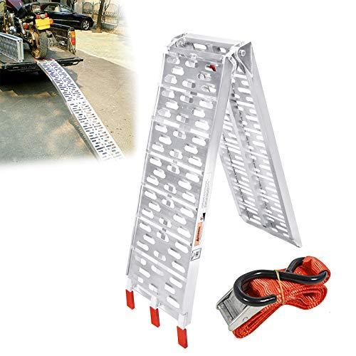 HENGMEI 1 rampa de carga plegable de aluminio, para motocicleta, máx. 340...