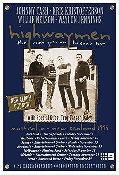 Highwaymen 1995 Concert Poster Print by delovely Arts