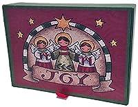 Angels of Joy Glitter with記念品ボックス–LPGボックスの14クリスマスカード