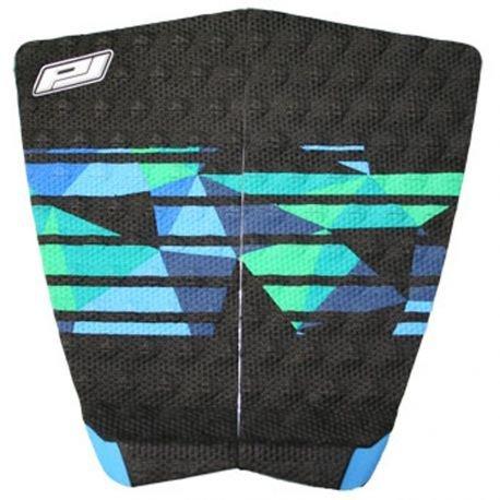 ProLite–Juego de 2Pads de Surf Negro/Azul/Verde, Noir/Bleu/Vert, Talla única
