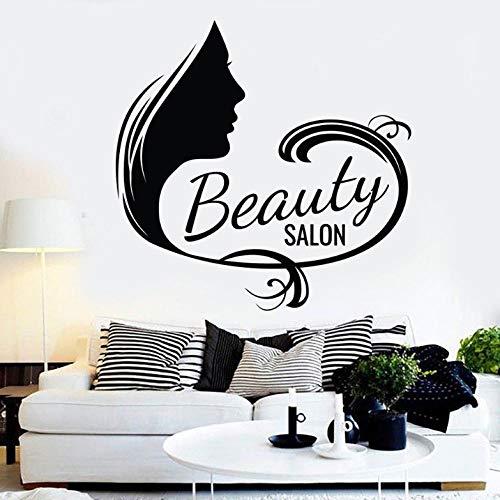 Vinyle Sticker Manucure Cosmétique Cils Motif Art Mural Autocollants Art Beauté Salon Art Décoration 57X56Cm