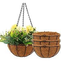 4-Pack Angchun 10 Inch Metal Flower Hanging Pots