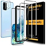 [2+2 Pack] UniqueMe Screen Protector and Camera lens Protector for Samsung Galaxy S20 Plus Tempered Glass,3D Full Coverage Film HD [Alignment Frame Easy Installation]Edge to Edge Protection