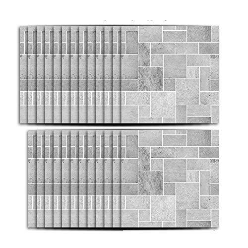 TYV Muurstickers Decoraties Balkon muur imitatie grijze decoratie pasta, keuken waterdichte vochtbestendige tegel sticker - 25 stks