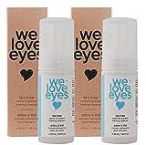 We Love Eyes- Vegan Tea Tree Eyelid Eyelash Foaming Cleanser DOUBLE PACK- Blepharitis, Demodex, Dry Eyes Relief and treatment, Wash Eyelashes, Reduce Itching and Inflammation