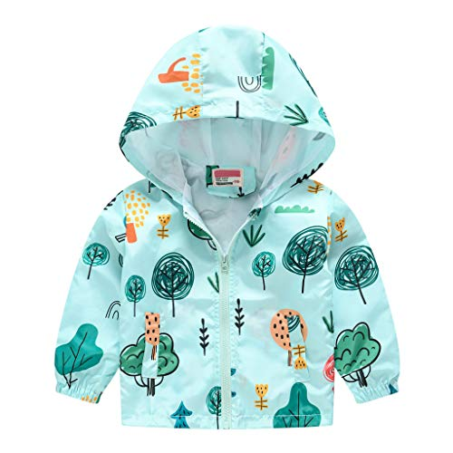 Without Brand Toddler Boys Girls Jacket Hooded Trench Dinosaur Lightweight Kids Coats Windbreaker Outdoor