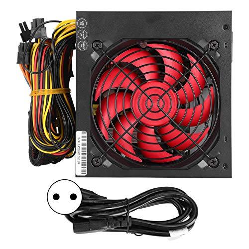 Ventilador de refrigeración silencioso para PC, ventilador de 9 aspas de 24 pines, 12 cm, con cable de alimentación de aproximadamente 1,1 metros, para computadora portátil(enchufe rojo de la UE)