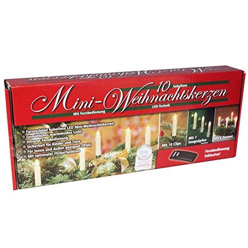 46 teiliges LED Baumkerzen SETChristbaumkerzen Weihnachtskerzen kabellos beige mit Fernbedienung